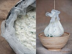 Fresh Cheese Spread - Cottage Cheese and herbs. (This site is in french; I used google translate)