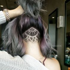Cool Undercut Nape Shave.  Not that I could ever convince myself to do that part...color is awesome though.