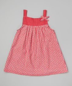 This Red Leaf Pin Tuck Dress - Infant, Toddler & Girls by Rim Zim Kids is perfect! #zulilyfinds