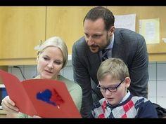 Prince Haakon and Mette Marit visited Haug School in Bekkestua