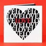 Carte coeur Love fichier sst silhouette gratuit