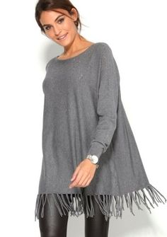 Trblietavý pulóver so strapcami #ModinoSK December, Tunic Tops, Women, Fashion, Moda, Fashion Styles, Fashion Illustrations, Woman