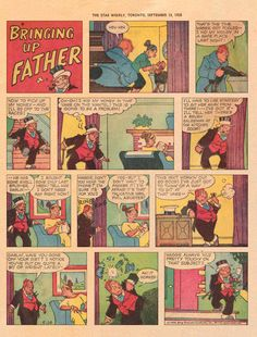 Bringing Up Father - 1958 Bring Up, Vintage Comics, Comic Art, The Past, Father, Sunday, Pai, Domingo, Dads