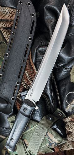 Sensei Satin Tactical Fixed Knife Blade by Kizlyar Supreme Swords And Daggers, Knives And Swords, Tactical Knives, Tactical Gear, Benchmade Knives, Cool Knives, Fixed Blade Knife, Custom Knives, Survival Knife