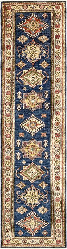 Navy Blue 2 7 X 10 Kazak Runner Rug Oriental Rugs