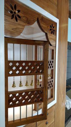 Interior Design Process, Apartment Interior Design, Interior Design Kitchen, Interior Ideas, Pooja Room Door Design, Home Room Design, Living Room Designs, Temple Design For Home, Mandir Design