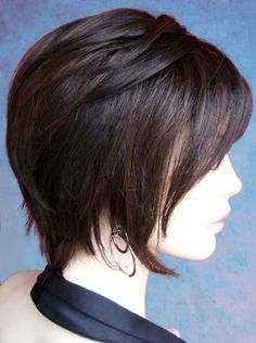 19 Cute Hairstyles for Girls with Short Hair - Hair Styles Short Straight Hair, Short Hair With Layers, Girl Short Hair, Short Hair Cuts, Straight Hairstyles, Thin Hair, Hair Styles 2014, Curly Hair Styles, Chin Length Hair Styles For Women