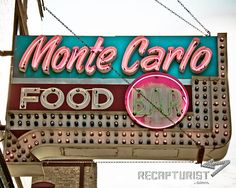 Monte Carlo Bar & Cafe vintage sign in Minneapolis; photograph by Recapturist