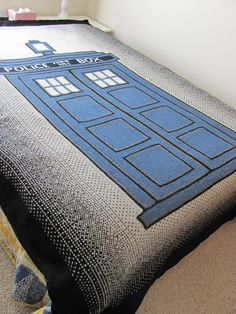 The ultimate afghan! Warmer on the inside! www.ravelry.com/patterns/library/doctor-who-tardis-afghan