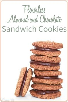 Flourless Almond Butter and Chocolate Sandwich Cookies (Grain-Free)