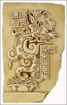 Maya vision serpent, vision serpent, maya art, maya reliefs ...