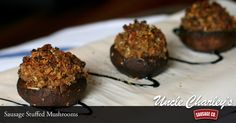 How's this for an appetizing #appetizer? Sausage Stuffed Mushrooms #recipe -->