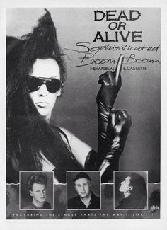 Dead Or Alive - Advertisement for Sophisticated Boom Boom in No. 1 Magazine, May 1984.