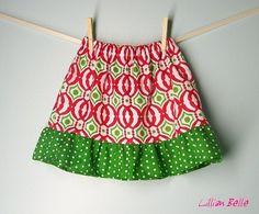 Totally cute Christmas skirt for a toddler girl!