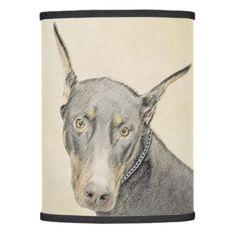#Doberman Pinscher Lamp Shade - #doberman #pinscher #puppy #pinschers #dog #dogs #pet #pets #cute
