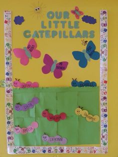 Bulletin board idea I did for my infant room class
