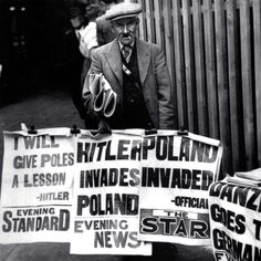London, September 1, 1939. British tabloids announce the German invasion of Poland. (Getty Images)