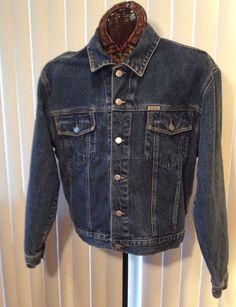 Vintage Guess USA Style 10807  Blue Denim Medium Jacket (F) #GUESS #BasicJacket