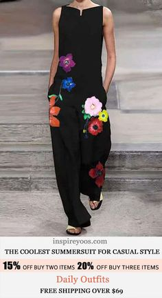 Floral Embroidery, Cos, Sunny Days, Style Me, Fashion Dresses, Floral Prints, Jumpsuit, Thoughts, Free Shipping
