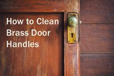 Better than chemical based cleaning creams. Learn how to clean bass door handles with a home made cleaning solution.