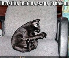 Invisible text message breakup