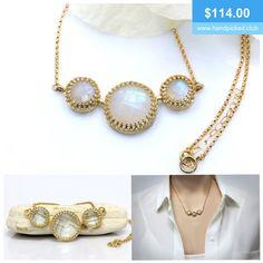 Lovely moonstone necklace. #gemstone #jewellery #jewelry #gold #handmade #anemonejewelry #handpickedclub @handpicked2842