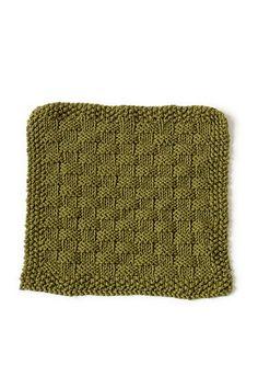 Free Knitting Pattern 90391AD Laguna Beach Washcloth : Lion Brand Yarn Company