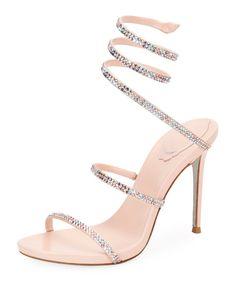 0d3c008658 Rene Caovilla Shoes · 1095 2019 Rene Caovilla Snake-Wrap Satin Sandal at  Neiman Marcus. Shop the latest