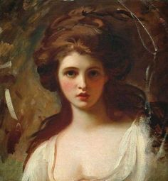George Romney - Lady Hamilton as Circe - George Romney (26 December 1734 – 15 November 1802) was an English portrait painter. He was the most fashionable artist of his day, painting many leading society figures – including his artistic muse, Emma Hamilton, mistress of Lord Nelson