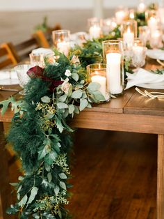 greenery table runner - photo by Katie Nicolle Photography http://ruffledblog.com/romantic-intimate-styled-shoot