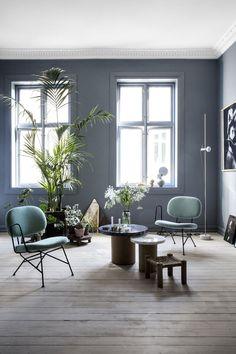 Interior Design, Room Wall Colors, House Interior, Blue Rooms, Beautiful Interior Design, Interior Inspiration, Living Room Wall Color, Home Decor, Minimalist Interior