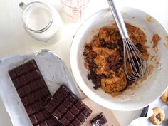 The August Lion: Cookies vegan au beurre de cacahuètes et pépites de chocolat
