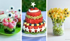 """""""Doces""""+saudáveis+para+festa+infantil Baby Shower Fruit, Baby Shower Cakes, Summer Recipes, Holiday Recipes, Fresco, Toy Story Food, Fresh Fruit Cake, Girls Tea Party, Easy Party Food"""