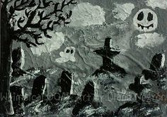 Halloween decor halloween art creepy gift by WhimsicalOOAKArt