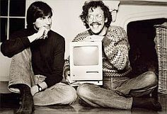 Bill Atkinson, right, a key member of the Macintosh research program, begun in 1979, for which Steve Jobs, left, assumed leadership in 1981....