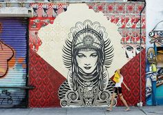 Shepard Fairey @ Rodney & Hope St, Williamsburg, Brooklyn