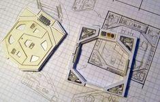 décors miniatures SF - Rémi Bostal, illustrateur modéliste Star Wars Miniatures, Sci Fi Miniatures, Decoration Star Wars, Edge Of The Empire, Starwars, Imperial Assault, Board Game Design, Game Terrain, Space Games
