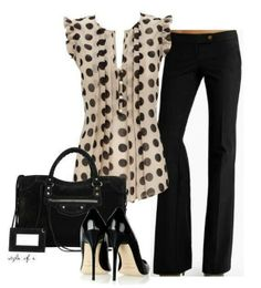 Polka dot office outfit! Love it