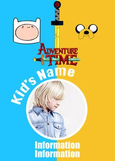 Personalized Adventure Time Finn and Jake Birthday Party Favor
