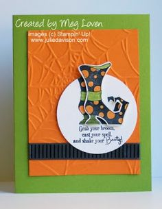 Julie's Stamping Spot -- Stampin' Up! Project Ideas Posted Daily: Bootiful Halloween Card