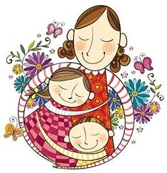 View top quality illustrations of Mother Love For Their Children. Find premium, high-resolution illustrative art at Getty Images. Mother Art, Mother And Child, Mothers Love, Happy Mothers Day, Hug Illustration, Mom Day, Mothers Day Crafts, Free Illustrations, Art For Kids