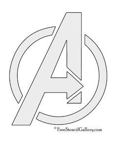 Avengers Logo Stencil