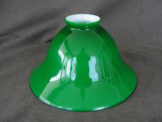 "Vintage 7 3/8"" Green Cased Glass Lamp Shade Emeralite"
