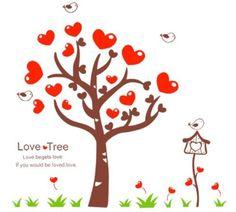 Bigbvg Easy Instant Home Decor Wall Sticker Decal - Love Tree by simde, http://www.amazon.com/dp/B008GTF9B2/ref=cm_sw_r_pi_dp_7Gebqb08DG6QK
