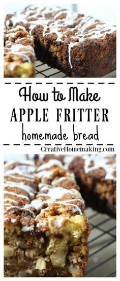 This apple fritter bread is a delicious apple dessert bread for fall or Thanksgiving. One of my favorite thanksgiving dessert ideas. Apple Fritter Recipes, Apple Fritter Bread, Apple Fritters, Apple Recipes, Fall Recipes, Apple Bread, Apple Bars, Thanksgiving Recipes, Banana Bread