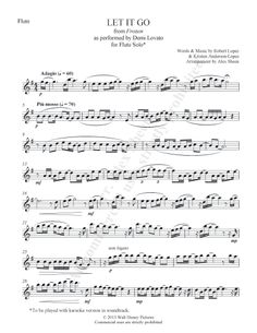 "Flute solo for Frozen's ""Let it Go"". I still have my flute! I'm going to play this"