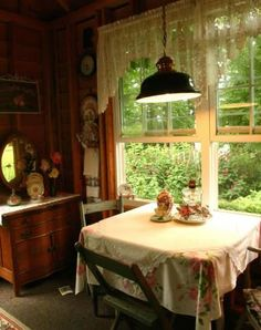 """Grams cozy kitchen,,,,Yes I aspire to have everything Grams had. She was happy and comfortable in her surroundings. And nobody said, """"It's just things, Grams."""""""