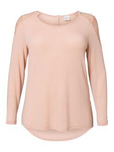 Plus size pastel top with laced shoulder from JUNAROSE #junarose #plussize #pastel