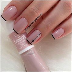 15 Super ideas for gel manicure designs short nails pretty art ideas Elegant Nails, Classy Nails, Trendy Nails, Cute Nails, French Manicure Acrylic Nails, Manicure And Pedicure, Nail Polish, Manicure Ideas, French Manicures