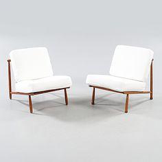 """ALF SVENSSON, fåtöljer, ett par, """"Domus"""", Dux, 1950-/60-tal."""